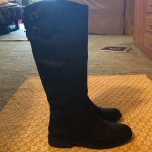 Vince Camuto Black Leather Riding Boots Size 9.5